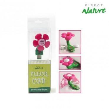 Diffuseur prise USB Fleur rose