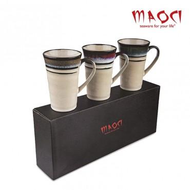 Coffret 3 tasses en céramique japonaise
