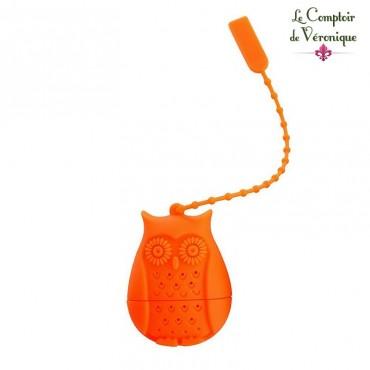 Infuseur chouette orange