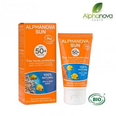 Lait solaire bio SPF 50+ Très haute protection