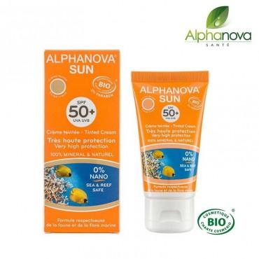 Crème teintée bio SPF 50 Haute protection
