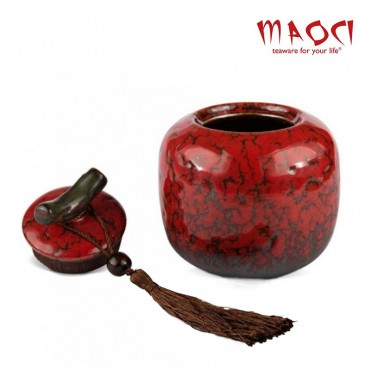 Boite en porcelaine rouge - 200ml