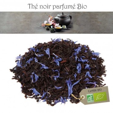 Earl Grey Bleu Lagon Bio- Thé noir parfumé