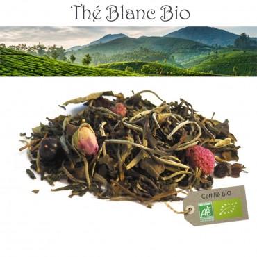 Thé blanc groseille framboise Bio