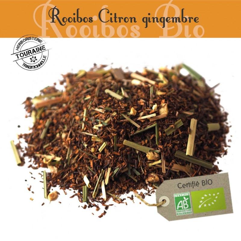 Citron-gingembre bio - Rooibos parfumé