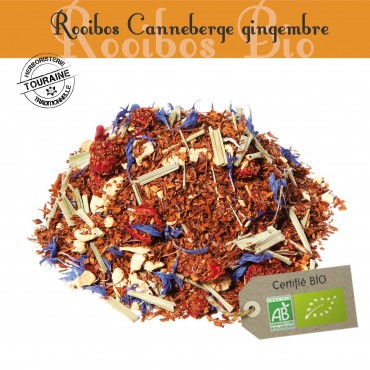 Canneberge-Gingembre Bio - Rooibos  parfumé