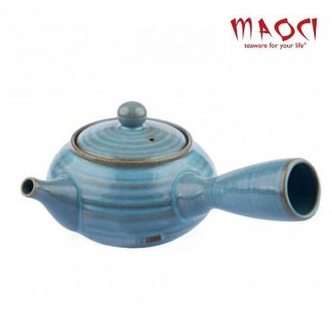 Théière japonaise kyusu bleue