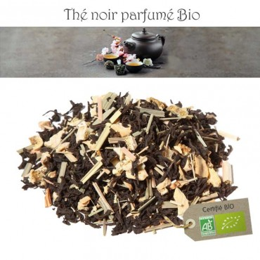 Gingembre Citron Bio - Thé noir parfumé