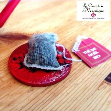 Coupelles repose sachet Rouge-foncé