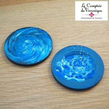 Coupelle repose sachet Bleu