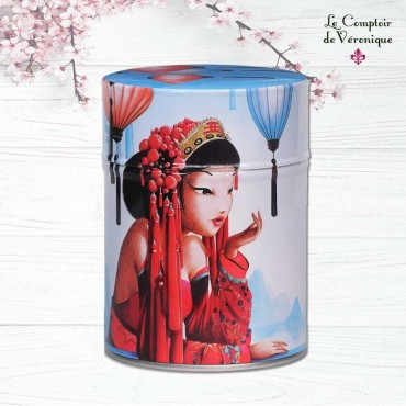 Boîte illustrée luxe 'Mekong' - Boîte à Thé ou Tisane