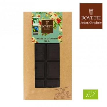 Chocolat noir Bio 100% Masse de Cacao