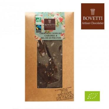 Chocolat noir caramel & fleur de sel bio
