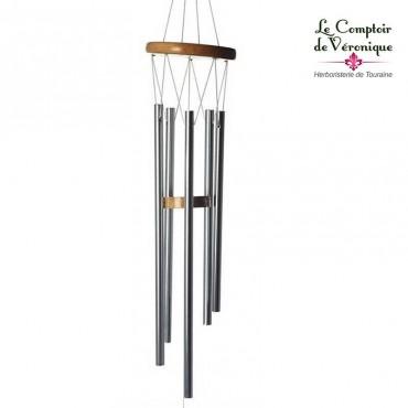 Carillon à vent Feng Shui clair - 77cm