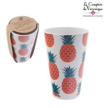 Mug en bambou Ananas