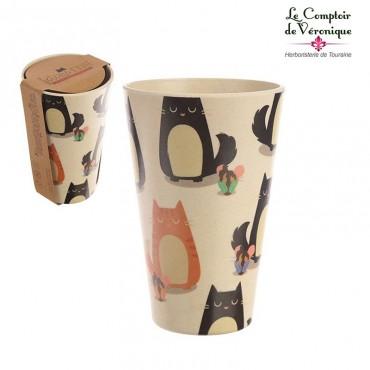 Mug en bambou Chats