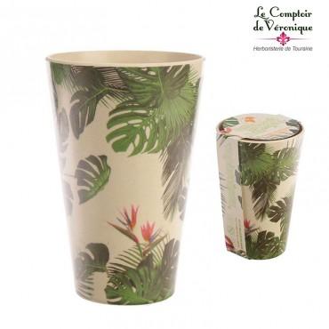 Verre en bambou Plante tropicales