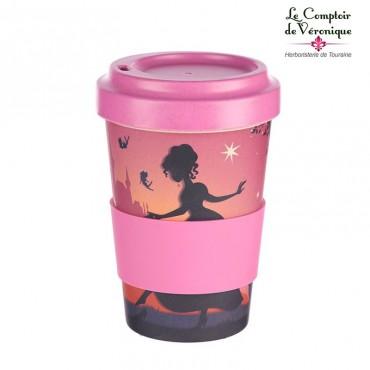 """Mug de voyage en bambou """"Princesse"""""""