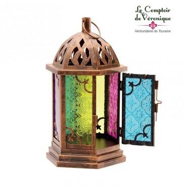 Lanterne orientale colorée - 29cm