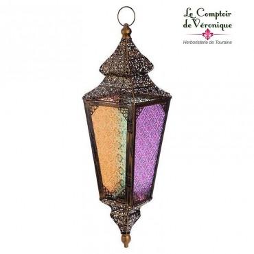 Grande Lanterne colorée à suspendre - 64cm