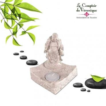 Bouddha Bonheur porte bougie