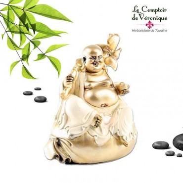 Bouddha Bonheur crèeme & or