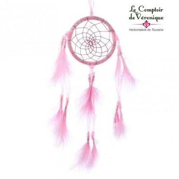 Attrape Rêve traditionnel - Pailleté rose