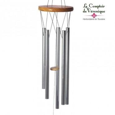 Carillon à vent Feng Shui clair - 88cm