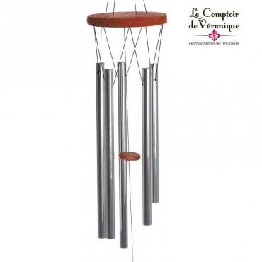 Carillon à vent Feng Shui acajou - 88cm