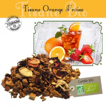 Tisane Orange Fraise bio - Orange fraise