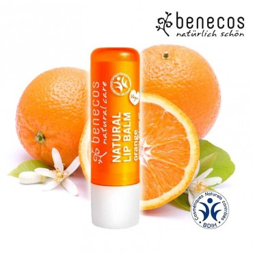 Baume à lèvres orange bio