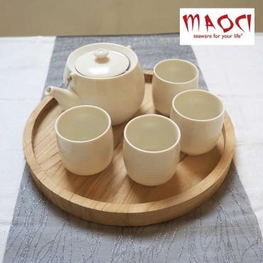 Coffret 4 tasses porcelaine blanche