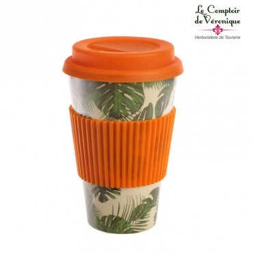 "Mug en bambou ""Plantes tropicales"""