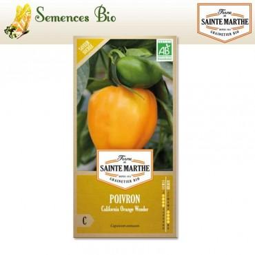Poivron California Orange Wonder - semences bio