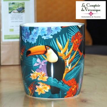 Mug Toucan en porcelaine