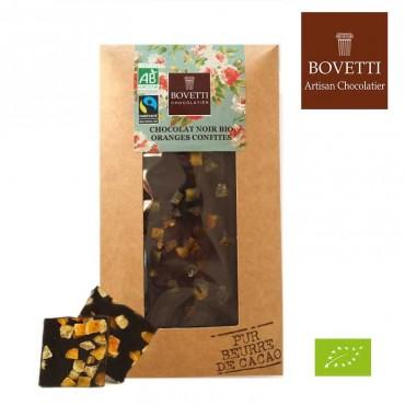 Chocolat noir & oranges confites bio