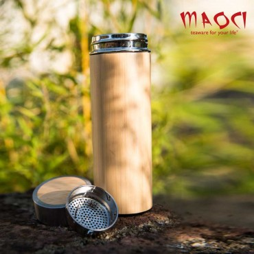 Thermos naturel en Bambou -...