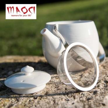 Théière céramique blanche -...