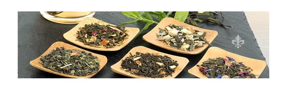 Thés verts parfumés bio